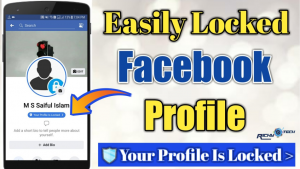 Facebook Lock profile Feature
