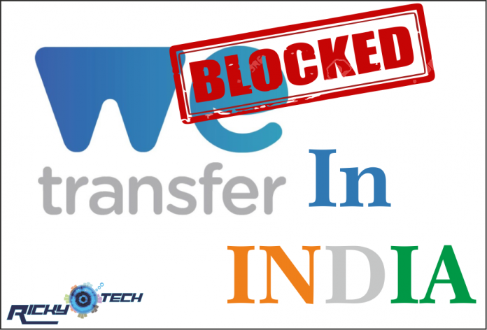 wetransfer blocked in india