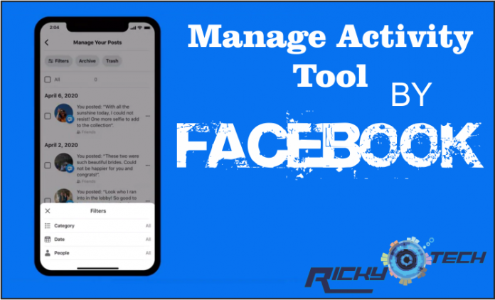 facebook Manage Activity Tool